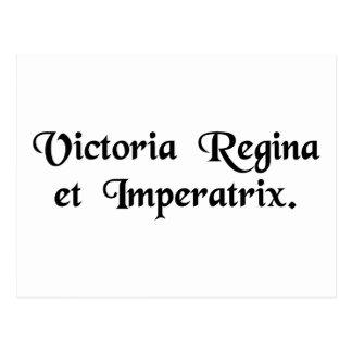 Victoria, Königin und Kaiserin Postkarte