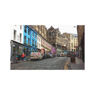 Victoria-Straße Edinburgh, Schottland Leinwanddruck