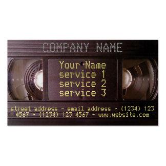 Video-Audiogeschäft Retro Technologie Visitenkarten