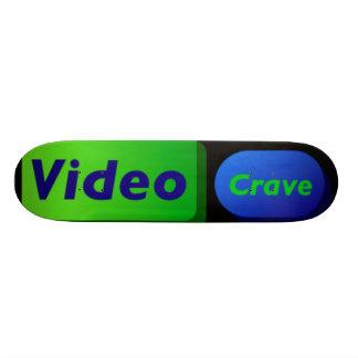 Video sehnen sich Brett 2 20,6 Cm Skateboard Deck