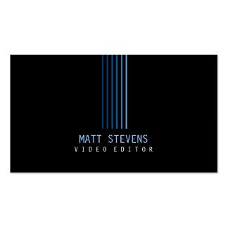 Videoherausgeber-Visitenkarte-Blau-Strahlen Visitenkarten