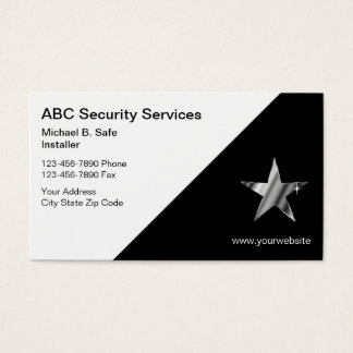 Videosicherheits-Visitenkarten Visitenkarten
