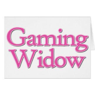 Videospiel-Witwe Karte