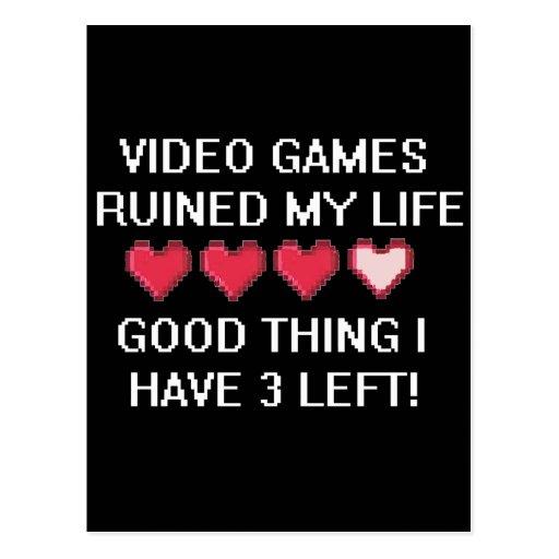 Videospiele ruinierten meinen Lebensstil 1 Postkarten