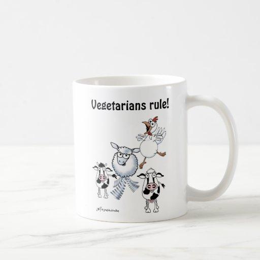 """Vieh: """"Vegetarier-Regel! """" Kaffee Haferl"""