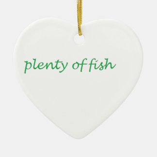 viel der Fische Keramik Ornament