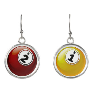 Viel Glück BINGO Ball-Ohrringe Ohrringe