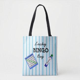 Viel Glück BINGO Taschen-Blau Striped
