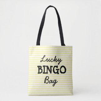 Viel Glück BINGO Taschen-Gelb Striped