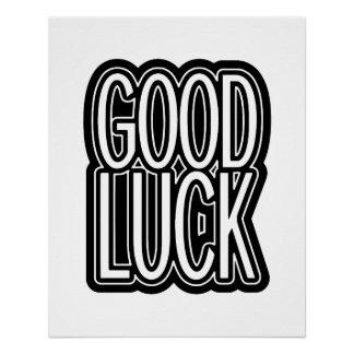 Viel Glück-Grafik-Typografie Perfektes Poster