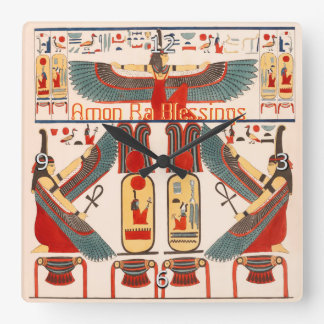 Viel Glück-Hieroglyphen, ägyptisches Gottamon-Ra Wanduhren