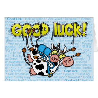 viel Glück - skydive Tandem der Kühe Karte