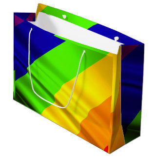 viele färbten Regenbogenflagge Große Geschenktüte