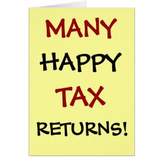 Viele glücklichen Steuererklärungen! Kundengerecht Karte