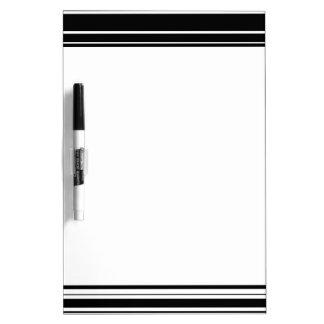 Vielzahl ungleiche Schwarzweiss-Streifen Memo Boards