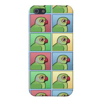 Vier FarbRose-beringter Parakeet iPhone 5 Etui