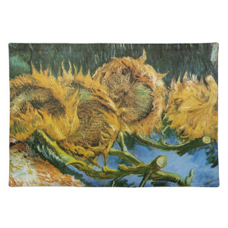 Vier geschnittene Sonnenblumen, Vincent van Gogh Stofftischset
