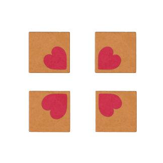 Vier Herzen Steinmagnet