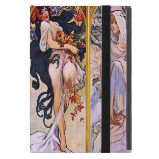 Vier Jahreszeiten durch Alphonse Mucha 1895 Hülle Fürs iPad Mini