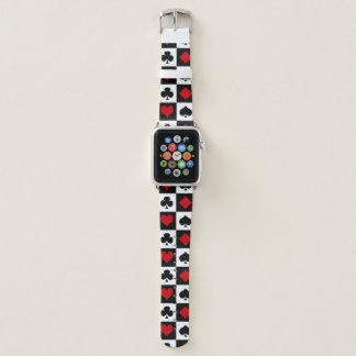 Vier Karten-Anzüge Apple Watch Armband