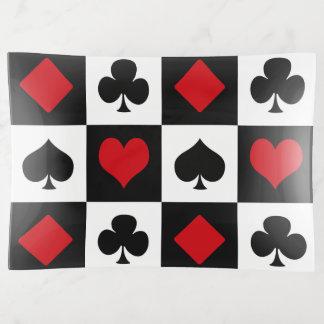 Vier Karten-Anzüge Dekoschale