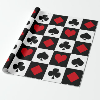 Vier Karten-Anzüge Einpackpapier