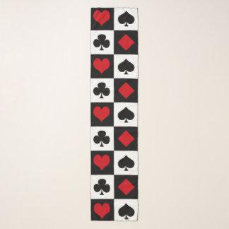 Vier Karten-Anzüge Schal
