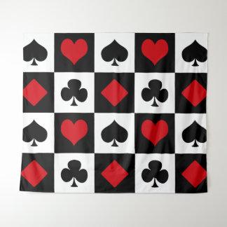 Vier Karten-Anzüge Wandteppich
