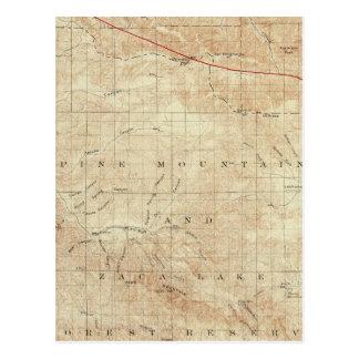 Viereck Mt Pinos, das San- Andreasriß zeigt Postkarte