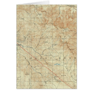 Viereck Sans Jacinto, das San- Andreasriß zeigt Karte