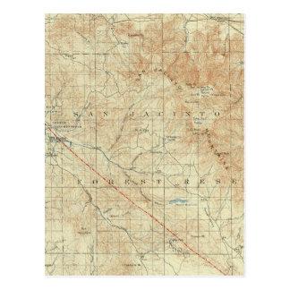 Viereck Sans Jacinto, das San- Andreasriß zeigt Postkarte