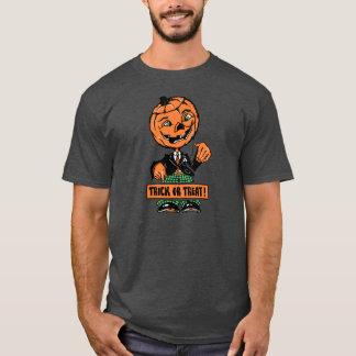 Vierzigerjahre Halloweentrick-oder -Leckerei-Jack T-Shirt