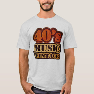 Vierzigerjahre Musik-Vintager T - Shirt
