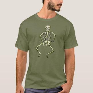 Vierzigerjahre Vintages Halloween-Tanzen-Skelett T-Shirt