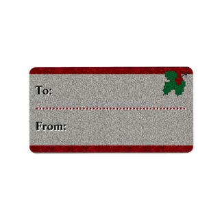 Vierzigerjahre Weihnachten - Zu-Von - Adressaufkleber