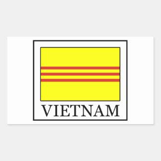 Vietnam-Aufkleber Rechteckiger Aufkleber