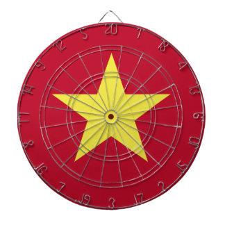 Vietnam-Flagge Dartscheibe