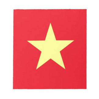 Vietnam-Flagge Notizblock