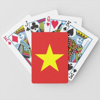 Vietnam-Flaggen-Gelb-Stern-Spielkarten Bicycle Spielkarten