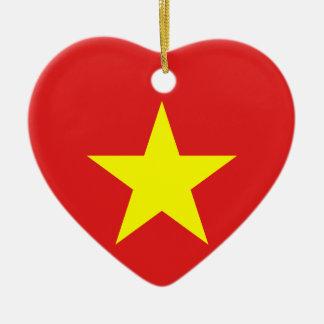 Vietnam-Flaggen-Herz-Verzierung Keramik Herz-Ornament