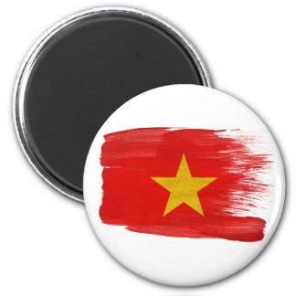 Vietnam-Flaggen-Magneten Runder Magnet 5,7 Cm