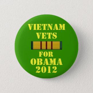 Vietnam-Tierärzte für Obama 2012 Runder Button 5,7 Cm