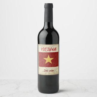 Vietnam-Wein-Aufkleber Weinetikett
