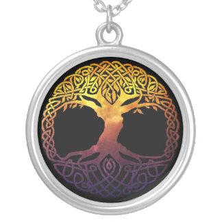 Viking-Baum der Leben-Halskette Versilberte Kette