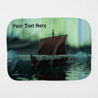 Viking-Schiff und Nordlichter Spucktücher
