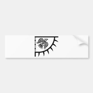 Viking-Schwarz-Raben-Fahne Autoaufkleber