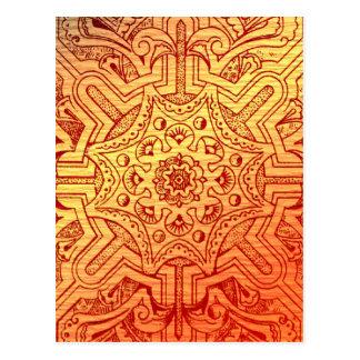 Viktorianische Arabeske, IDALIS - Sonnenuntergang Postkarte