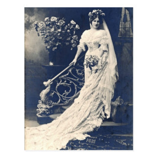 Viktorianische Braut Postkarte