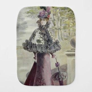 Viktorianische Dame - Vintages französisches Baby Spucktuch