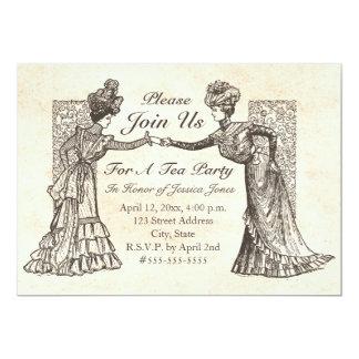 Viktorianische Damen-Einladung Karte